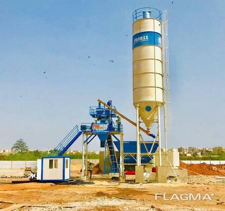 Compact Concrete Batching Plant Promax C60 SNG (60m³/h)
