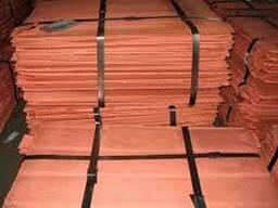 Медь Катодная пластины 99, 97-99, 99% класс А