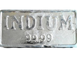 Индиум ингота метални индијум метал марке ИнОО ГОСТ10297-94