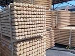 Round wood (pins, logs, bars ) made of pine. - photo 4