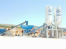 Mobile concrete batching plant promax 100-SNG (100m³/h)