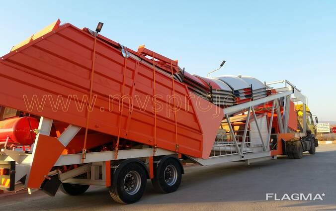 MVS 60MS 60m3/hour Mobile Concrete Batching Plant