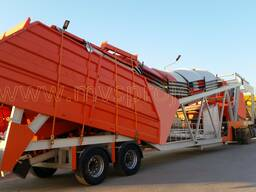 MVS 60MS 60m3/hour Mobile Concrete Batching Plant